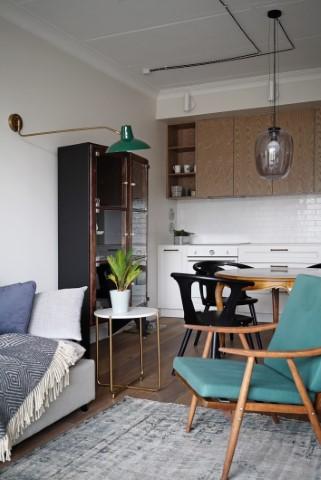 Eklektiškas buto interjeras